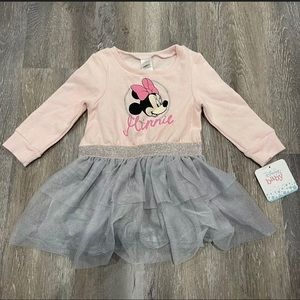 Disney Baby Tiered Tutu Long Sleeve Dress 12m